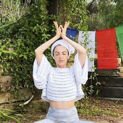 Alexandra Hulme leading Celestial Healing Movement